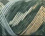 Fiber Content 50% Wool, 50% Acrylic, White, Light Brown, Light Blue, Brand ICE, Grey Shades, Yarn Thickness 3 Light  DK, Light, Worsted, fnt2-56443