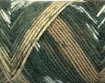 Fiber Content 50% Wool, 50% Acrylic, White, Brand ICE, Grey Shades, Brown Shades, Yarn Thickness 3 Light  DK, Light, Worsted, fnt2-56444