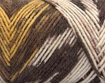 Fiber Content 50% Acrylic, 50% Wool, Yellow, Brand ICE, Cream, Brown Shades, Yarn Thickness 3 Light  DK, Light, Worsted, fnt2-56448