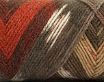 Fiber Content 50% Acrylic, 50% Wool, Brand ICE, Cream, Copper, Brown Shades, Yarn Thickness 3 Light  DK, Light, Worsted, fnt2-56449