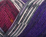 Fiber Content 50% Acrylic, 50% Wool, White, Purple, Brand ICE, Grey, Burgundy, Yarn Thickness 3 Light  DK, Light, Worsted, fnt2-56453