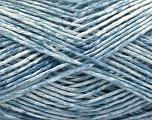 Fiber Content 100% Micro Acrylic, White, Light Blue, Brand ICE, Yarn Thickness 3 Light  DK, Light, Worsted, fnt2-56472