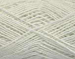 Fiber Content 100% Cotton, White, Brand ICE, Yarn Thickness 2 Fine  Sport, Baby, fnt2-56498