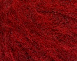Knitted as 4 ply Fiber Content 40% Polyamide, 30% Acrylic, 30% Kid Mohair, Brand ICE, Dark Red, Yarn Thickness 1 SuperFine  Sock, Fingering, Baby, fnt2-56532