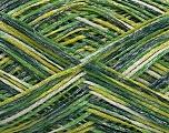 Fiber Content 80% Acrylic, 20% Polyamide, Brand ICE, Green Shades, Yarn Thickness 2 Fine  Sport, Baby, fnt2-56535