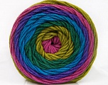 Fiber Content 100% Acrylic, Turquoise, Purple, Orchid, Brand ICE, Green Shades, Yarn Thickness 4 Medium  Worsted, Afghan, Aran, fnt2-56553
