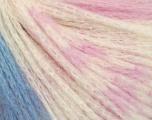Fiber Content 78% Superwash Extrafine Merino Wool, 22% Polyamide, White, Pink, Brand ICE, Blue, Yarn Thickness 2 Fine  Sport, Baby, fnt2-56632