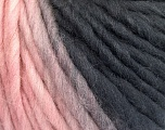 Fiber Content 100% Wool, Pink, Brand ICE, Grey Shades, Yarn Thickness 5 Bulky  Chunky, Craft, Rug, fnt2-56673