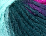 Fiber Content 100% Wool, Turquoise, Teal, Brand ICE, Fuchsia, Yarn Thickness 5 Bulky  Chunky, Craft, Rug, fnt2-56680