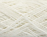 Fiber Content 100% Cotton, White, Brand ICE, Yarn Thickness 2 Fine  Sport, Baby, fnt2-56710