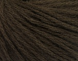 Fiber Content 50% Acrylic, 50% Wool, Brand ICE, Dark Brown, Yarn Thickness 4 Medium  Worsted, Afghan, Aran, fnt2-56734