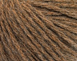 Fiber Content 50% Wool, 50% Acrylic, Brand ICE, Brown Melange, Yarn Thickness 4 Medium  Worsted, Afghan, Aran, fnt2-56735