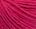 Fiber Content 50% Acrylic, 50% Wool, Brand ICE, Candy Pink, Yarn Thickness 4 Medium  Worsted, Afghan, Aran, fnt2-56746