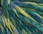 Fiber Content 40% Wool, 35% Acrylic, 25% Polyamide, Brand ICE, Green Shades, Blue Shades, fnt2-56779