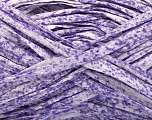 Fiber Content 100% Cotton, White, Lilac, Brand ICE, Yarn Thickness 5 Bulky  Chunky, Craft, Rug, fnt2-56783