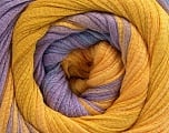 Fiber Content 100% Cotton, Lilac, Brand ICE, Gold, Yarn Thickness 4 Medium  Worsted, Afghan, Aran, fnt2-56797