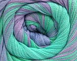 Fiber Content 100% Cotton, Mint Green, Lilac, Brand ICE, Yarn Thickness 4 Medium  Worsted, Afghan, Aran, fnt2-56798