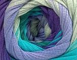 Fiber Content 100% Cotton, Turquoise, Purple, Lilac, Khaki, Brand ICE, Yarn Thickness 4 Medium  Worsted, Afghan, Aran, fnt2-56812