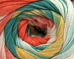Fiber Content 100% Cotton, Yellow, Orange, Brand ICE, Green, Cream, Yarn Thickness 4 Medium  Worsted, Afghan, Aran, fnt2-56813