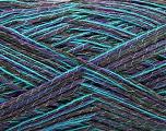 Fiber Content 63% Viscose, 25% Angora, 12% Polyamide, Turquoise, Purple, Brand ICE, Dark Brown, fnt2-56814