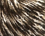Fiber Content 40% Cotton, 20% Wool, 20% Acrylic, 20% Mohair, White, Brand ICE, Brown Shades, Yarn Thickness 3 Light  DK, Light, Worsted, fnt2-56816
