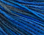 Fiber Content 50% Acrylic, 50% Wool, Brand ICE, Blue Shades, Yarn Thickness 3 Light  DK, Light, Worsted, fnt2-56837