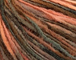 Fiber Content 50% Wool, 50% Acrylic, Salmon, Brand ICE, Brown Shades, Yarn Thickness 3 Light  DK, Light, Worsted, fnt2-56839
