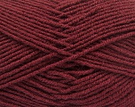 Fiber Content 70% Acrylic, 30% Wool, Brand ICE, Burgundy, Yarn Thickness 4 Medium  Worsted, Afghan, Aran, fnt2-56862