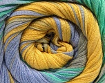 Fiber Content 100% Cotton, Mint Green, Brand ICE, Grey, Gold, Blue, Yarn Thickness 4 Medium  Worsted, Afghan, Aran, fnt2-56908