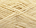 natural yarn  Fiber Content 40% Extrafine Merino Wool, 30% Silk, 30% Linen, Brand ICE, Cream, fnt2-56948