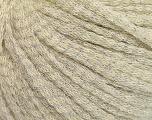 Fiber Content 50% Extrafine Merino Wool, 27% Polyamide, 23% Metallic Lurex, Silver, Brand ICE, Ecru, fnt2-56968