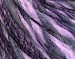 Fiber Content 45% Wool, 25% Acrylic, 20% Alpaca, 10% Metallic Lurex, Purple, Pink, Lilac, Brand ICE, Yarn Thickness 5 Bulky  Chunky, Craft, Rug, fnt2-56988