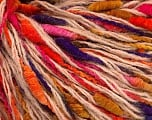 Fiber Content 50% Merino Wool, 35% Polyamide, 15% Acrylic, Purple, Pink, Orange, Brand ICE, Gold, fnt2-56992
