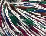 Fasergehalt 50% Merinowolle, 35% Polyamid, 15% Acryl, White, Brand ICE, Green, Burgundy, Blue, fnt2-56993