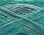 Fiber Content 80% Cotton, 20% Polyamide, Turquoise Shades, Brand ICE, fnt2-57020