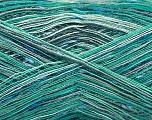 Fasergehalt 80% Baumwolle, 20% Polyamid, Turquoise Shades, Brand ICE, fnt2-57020