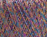 Fiber Content 75% Viscose, 25% Metallic Lurex, Pink, Lilac, Brand ICE, Gold, Blue, Yarn Thickness 2 Fine  Sport, Baby, fnt2-57029