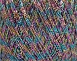 Fiber Content 75% Viscose, 25% Metallic Lurex, Turquoise, Pink, Brand ICE, Gold, Beige, Yarn Thickness 2 Fine  Sport, Baby, fnt2-57030