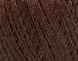 Fiber Content 85% Viscose, 25% Metallic Lurex, Brand ICE, Dark Brown, Yarn Thickness 3 Light  DK, Light, Worsted, fnt2-57034