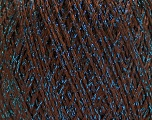 Fiber Content 85% Viscose, 25% Metallic Lurex, Brand ICE, Dark Brown, Blue, Yarn Thickness 3 Light  DK, Light, Worsted, fnt2-57035