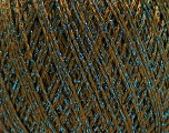 Fiber Content 85% Viscose, 25% Metallic Lurex, Khaki, Brand ICE, Blue, Yarn Thickness 3 Light  DK, Light, Worsted, fnt2-57036