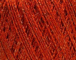 Fiber Content 85% Viscose, 25% Metallic Lurex, Orange, Brand ICE, Copper, Yarn Thickness 3 Light  DK, Light, Worsted, fnt2-57041