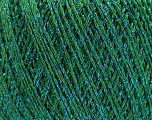 Fiber Content 85% Viscose, 25% Metallic Lurex, Brand ICE, Green, Blue, Yarn Thickness 3 Light  DK, Light, Worsted, fnt2-57043