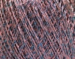 Fiber Content 85% Viscose, 25% Metallic Lurex, Pink, Brand ICE, Blue, Yarn Thickness 3 Light  DK, Light, Worsted, fnt2-57045