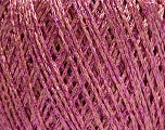 Fiber Content 85% Viscose, 25% Metallic Lurex, Pink, Brand ICE, Yarn Thickness 3 Light  DK, Light, Worsted, fnt2-57046