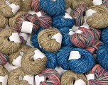 Self-Striping Yarns Please note that skein weight information given for this lot is average. Brand ICE, fnt2-57061
