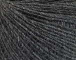 Fiber Content 50% Merino Wool, 25% Alpaca, 25% Acrylic, Brand ICE, Dark Grey Melange, Yarn Thickness 2 Fine  Sport, Baby, fnt2-57139