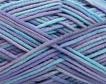 Fiber Content 85% Cotton, 15% Polyamide, Turquoise, Lilac Shades, Brand ICE, fnt2-57195