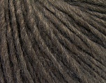Fiber Content 50% Merino Wool, 25% Alpaca, 25% Acrylic, Brand ICE, Dark Brown, Brown Melange, Yarn Thickness 4 Medium  Worsted, Afghan, Aran, fnt2-57210