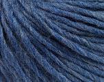 Fiber Content 50% Merino Wool, 25% Acrylic, 25% Alpaca, Brand ICE, Blue Melange, Yarn Thickness 4 Medium  Worsted, Afghan, Aran, fnt2-57225